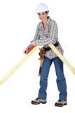 Female carpenter Stock Images