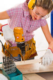 Female carpenter Royalty Free Stock Photography