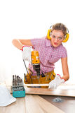 Female carpenter Royalty Free Stock Photos