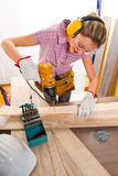 Female carpenter Stock Photos