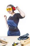 Female carpenter Stock Photos