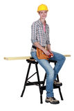 A female carpenter Royalty Free Stock Image