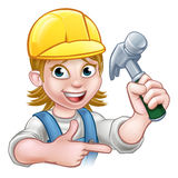 Female Carpenter Woman Cartoon Character Royalty Free Stock Photo