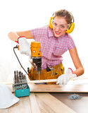 Female carpenter Royalty Free Stock Images