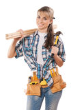 Female carpenter Royalty Free Stock Image