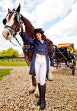 Female carriage driver Royalty Free Stock Photography