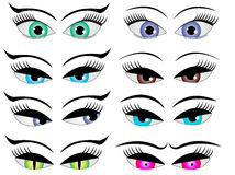 Female cartoon eyes Royalty Free Stock Photo