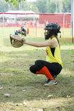 Female catcher Royalty Free Stock Photography