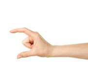 Female caucasian hand gesture isolated Stock Photography