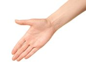 Female caucasian hand gesture isolated Royalty Free Stock Photography