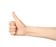 Female caucasian hand gesture isolated Royalty Free Stock Photos