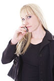 Female on cell phone Stock Photography