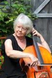 Female cellist Stock Image