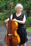 Female cellist. Royalty Free Stock Photos
