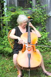 Female cellist. Stock Images