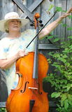 Female cellist. Stock Photo
