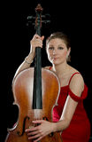 Female cello player Royalty Free Stock Images
