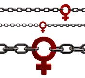 Female chain Royalty Free Stock Photography
