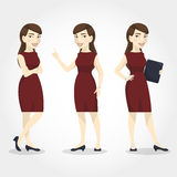 Female character asian business woman Stock Photography