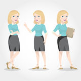 Female character blonde business woman Stock Image