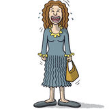 A female character with funny smile Royalty Free Stock Image