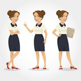 Female character hispanic business woman Royalty Free Stock Photos