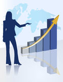Female chart business presentation Stock Photo