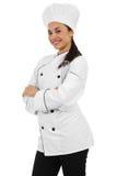 Female Chef. Stock image of female chef isolated on white background Stock Photos