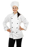 Female Chef. Stock image of female chef isolated on white background Stock Photo