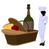 Female Chef Art Illustration Silhouette Royalty Free Stock Images