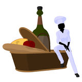 Female Chef Art Illustration Silhouette Stock Image