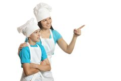 Female chef with assistant Stock Photography