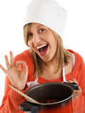 Female chef Stock Photo