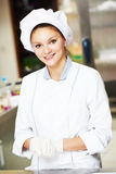 Female chef cook Royalty Free Stock Photography
