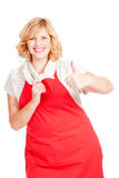 female chef cook showing thumbs up Stock Photography