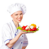 Female chef/ cook Stock Images