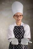 Female Chef Holding Something Royalty Free Stock Images