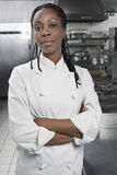 Female Chef In The Kitchen royalty free stock image