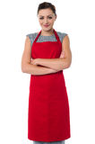 Female chef posing with confidence Stock Image