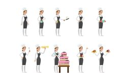 Female chef set. Royalty Free Stock Photography