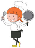 Female chef in uniform Stock Photo