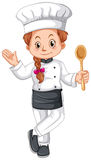 Female chef in uniform Stock Image