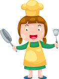 Female Chef vector Royalty Free Stock Images