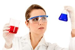 Female chemist Royalty Free Stock Image