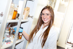 Female chemist in work Stock Photography