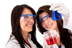 Female chemists Royalty Free Stock Image