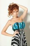 Female in chiffon dress Stock Photo