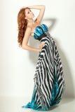 Female in chiffon dress posing Royalty Free Stock Photos