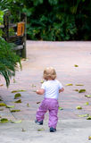Female Child. A young child running in the park Royalty Free Stock Photos