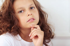 Female child. Child. Young girl in close-up Stock Images